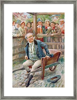 Mr Pickwick In The Pound, Illustration For Character Sketches From Dickens Compiled By B.w. Matz Framed Print by Harold Copping
