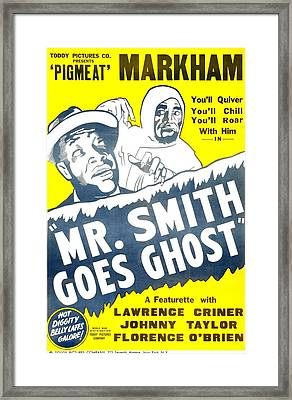 Mr. Smith Goes Ghost, Us Poster, Dewey Framed Print by Everett