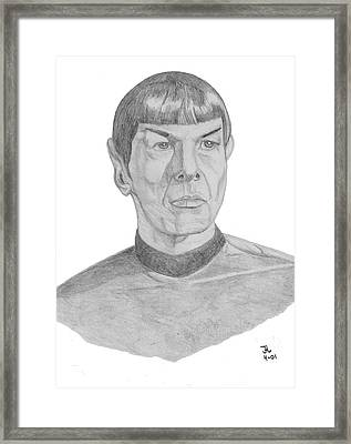 Mr. Spock Framed Print by Thomas J Herring