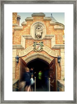 Mr Toads Wild Ride Fantasyland Disneyland Framed Print by Thomas Woolworth