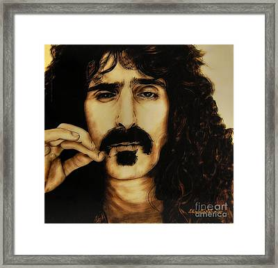 Mr Zappa Framed Print by Betta Artusi