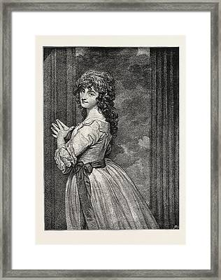 Mrs. Dorothy Jordan As Peggy In The Country Girl Framed Print by Jordanian School