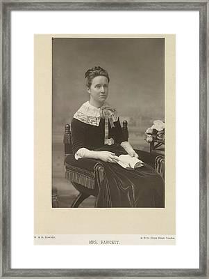 Mrs Fawcett Framed Print by British Library