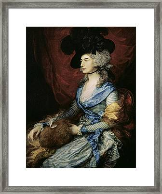 Mrs Sarah Siddons, The Actress 1755-1831, 1785 Oil On Canvas Framed Print by Thomas Gainsborough