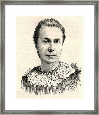 Mrs Sophia Bryant Framed Print by Universal History Archive/uig