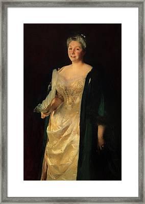 Mrs. William Playfair, 1887 Framed Print by John Singer Sargent