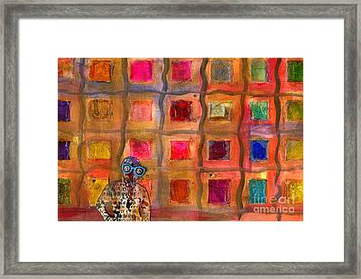 Ms Cool Goes Window Watching In Color Framed Print by Angela L Walker