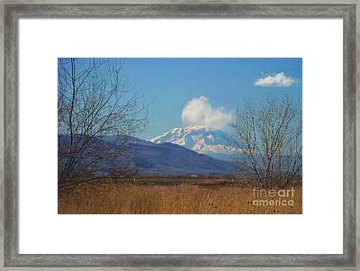 Mt Adams - North Side Framed Print by Charles Robinson