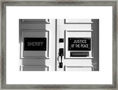Justice Of The Peace Framed Print by Michael Eingle