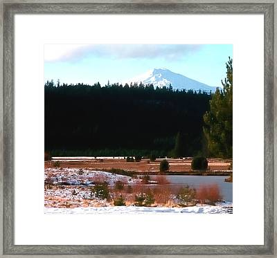 Mt Bachelor 1144 2 Framed Print by Jerry Sodorff