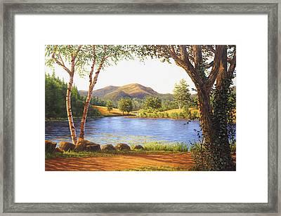 Mt. Bernard Framed Print by Elaine Farmer
