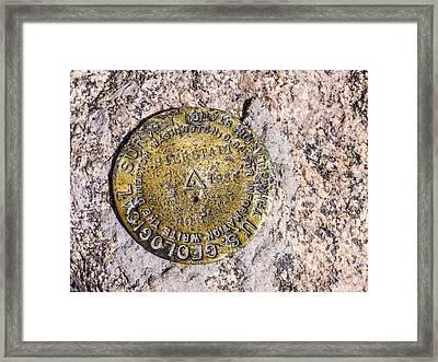 Mt. Bierstadt Survey Marker Framed Print by Aaron Spong