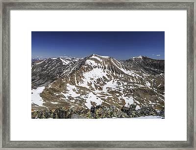 Mt. Democrat Framed Print by Aaron Spong
