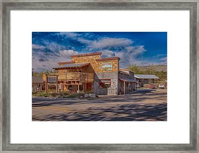 Mt Gardner Inn And Fly Shop Framed Print by Omaste Witkowski