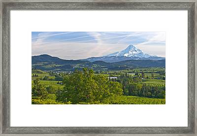 Mt Hood And Hood River Valley Framed Print by Panoramic Images