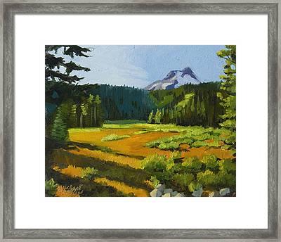 Mt. Hood Meadow Framed Print by Alice Leggett