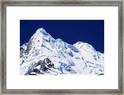 Mt Hualcan Framed Print by James Brunker