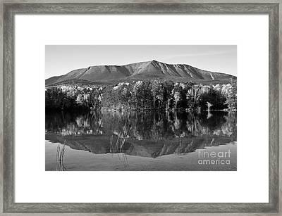 Mt Katahdin Black And White Framed Print by Glenn Gordon