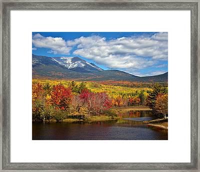 Mt. Katahdin From Abol Bridge Framed Print by Jack Zievis