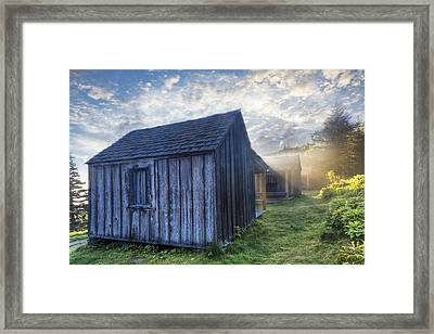 Mt Leconte Cabins Framed Print by Debra and Dave Vanderlaan