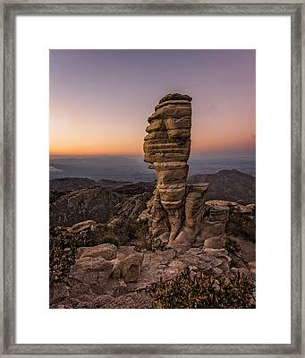 Mt. Lemmon Hoodoo Framed Print by Chris Bordeleau