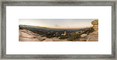 Mt. Lemmon Windy Point Panorama Framed Print by Chris Bordeleau