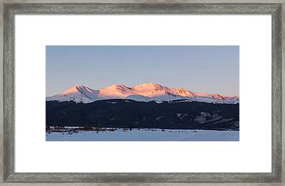 Mt. Massive Framed Print by Aaron Spong