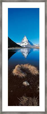 Mt Matterhorn & Riffel Lake Switzerland Framed Print by Panoramic Images