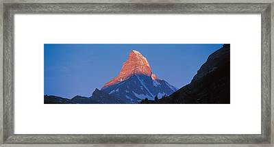 Mt Matterhorn Zermatt Switzerland Framed Print by Panoramic Images