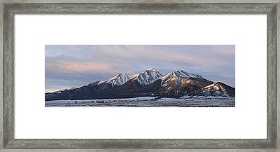 Mt. Princeton Panorama Framed Print by Aaron Spong