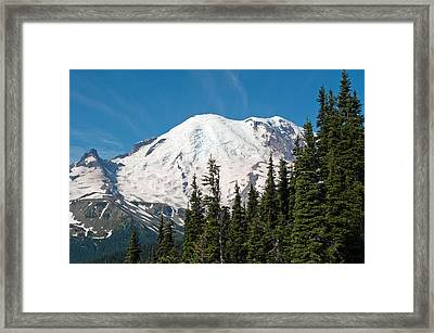 Mt. Rainier At Sunrise Viewpoint Framed Print by Tikvah's Hope
