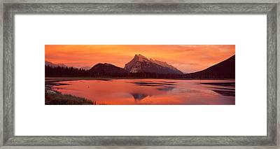 Mt Rundle & Vermillion Lakes Banff Framed Print by Panoramic Images