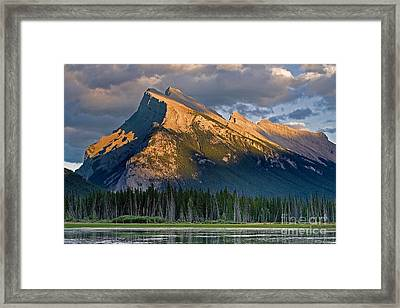 Mt. Rundle Grandeur Framed Print by Jerry Fornarotto