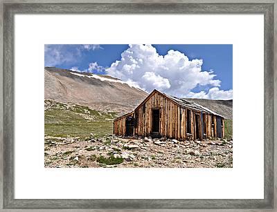 Mt. Sherman Framed Print by Aaron Spong