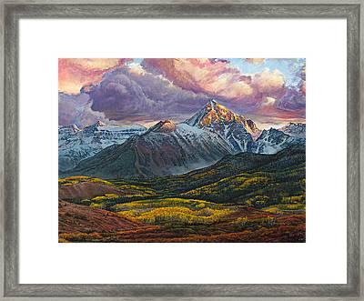 Mt. Sneffels Framed Print by Aaron Spong