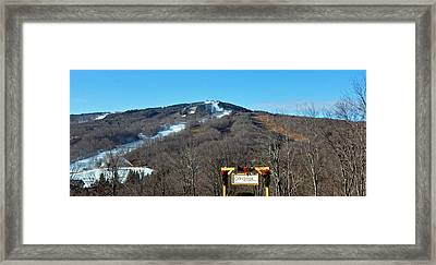 Mt Snow Vermont Framed Print by Mary Anne Williams