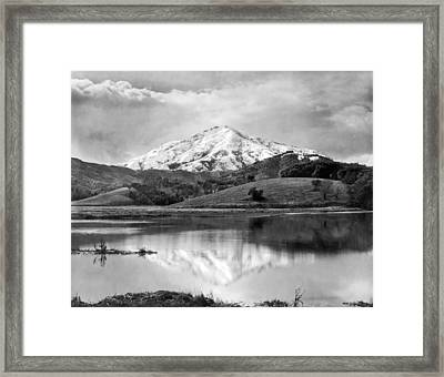 Mt. Tamalpais In Snow Framed Print by Underwood Archives