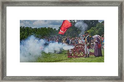 Mt Vernon Cannon Fire 4th Of July Framed Print by Jack Nevitt