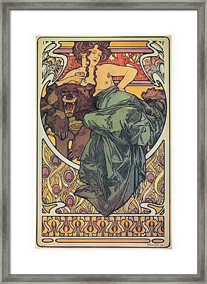 Mucha Bearskin, 1902 Framed Print by Granger