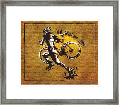 Mud Sweat And Gears Framed Print by Sassan Filsoof