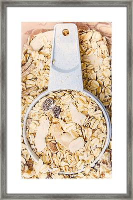 Muesli Scoop Serving Cup Framed Print by Jorgo Photography - Wall Art Gallery
