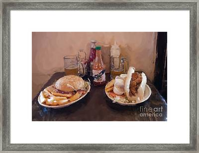 Muffaletta And Po-boy Framed Print by Kay Pickens