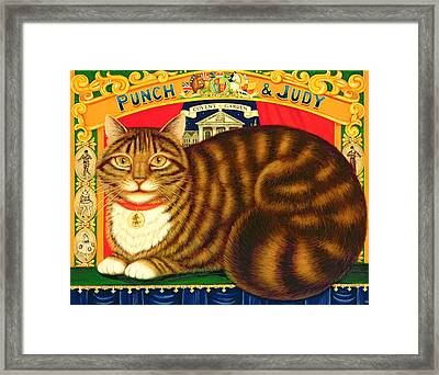 Muffin, The Covent Garden Cat Framed Print by Frances Broomfield