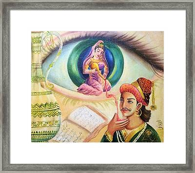 Mughal King Dreaming Framed Print by Jyoti Sharma