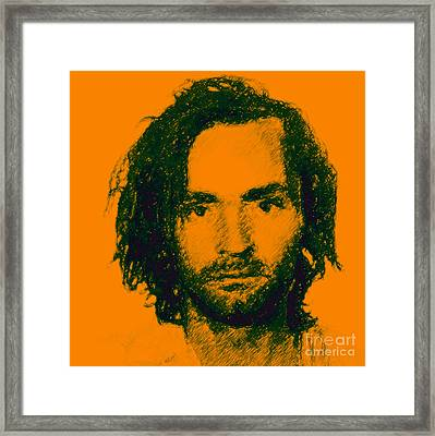 Mugshot Charles Manson P0 Framed Print by Wingsdomain Art and Photography