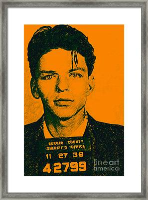Mugshot Frank Sinatra V1 Framed Print by Wingsdomain Art and Photography