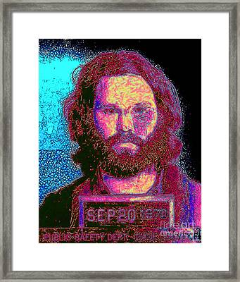 Mugshot Jim Morrison 20130329 Framed Print by Wingsdomain Art and Photography