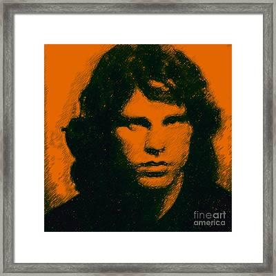 Mugshot Jim Morrison Square Framed Print by Wingsdomain Art and Photography