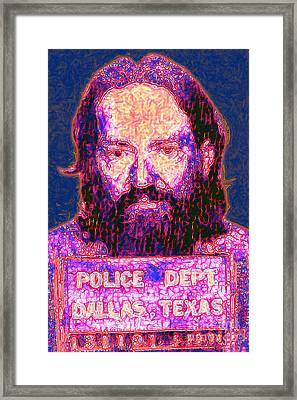 Mugshot Willie Nelson Painterly 20130328 Framed Print by Wingsdomain Art and Photography