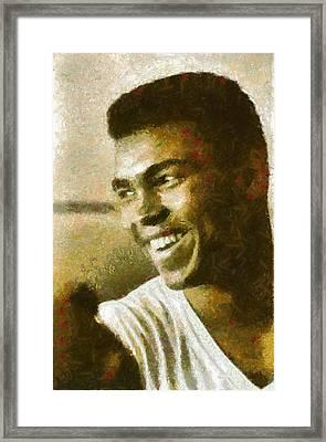 Muhamad Ali Framed Print by Riccardo Zullian